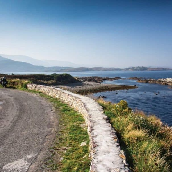 Coastal riding route on Wild Atlantic Way - Motorcycle Ireland