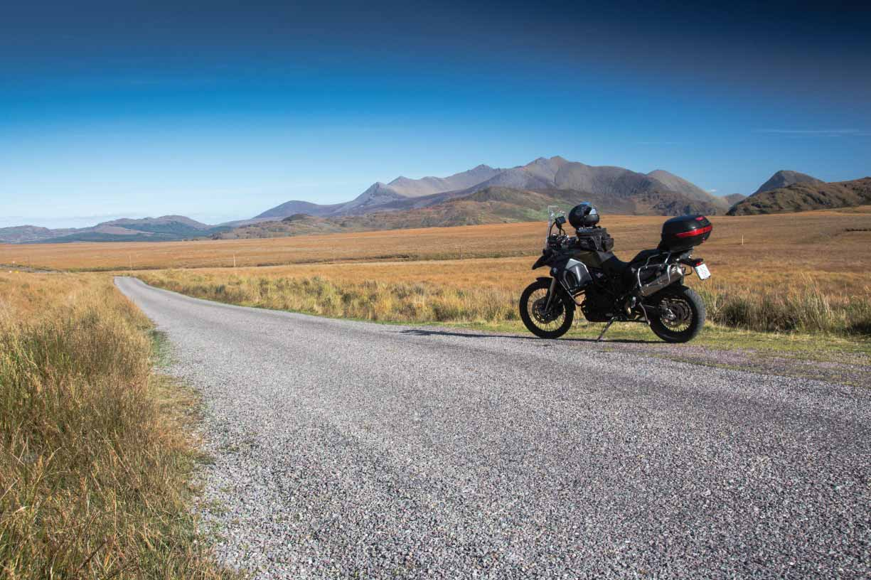 Ideal climate conditions for motorcycle tour