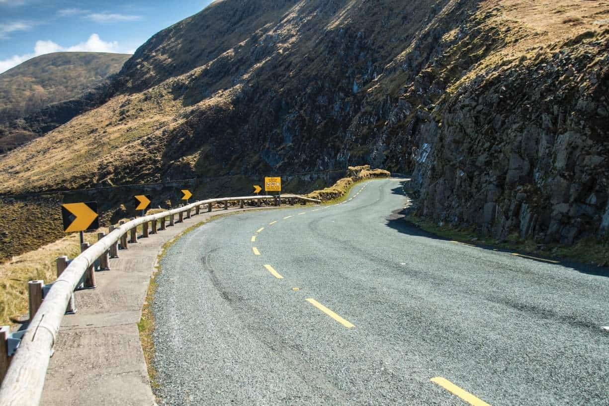 Conor Pass - a must do when motorcycling on Ireland's The Dingle Peninsula