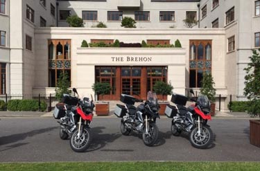 BMW R1200GS motorcycles ready for tour of Ring of Kerry